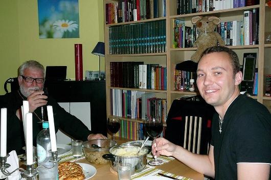 Архиепископ Команский Гавриил и Владимир Мельник