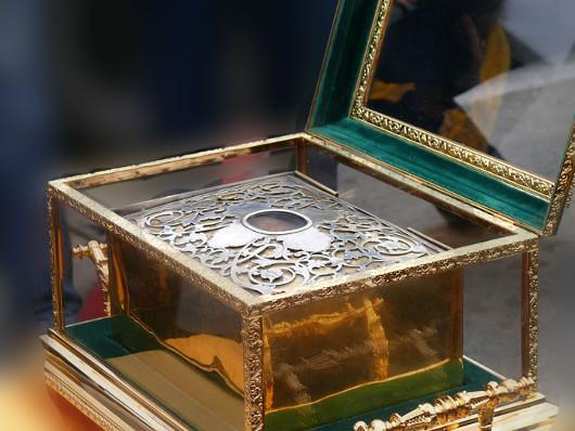 Глава Иоанна Златоуста в храме Христа Спасителя в Москве