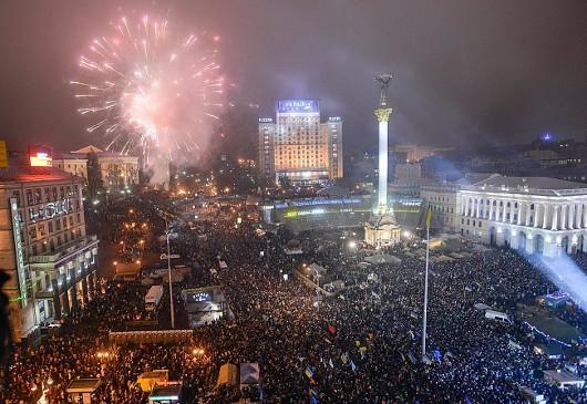Новогодняя ночь на Майдане