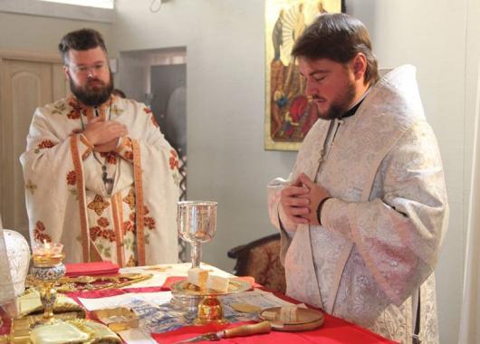 Митрополит Александр (Драбинко) и протоиерей Андрей Дудченко