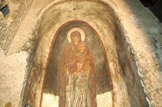 Фреска Пресвятой Богородицы в монастыре Гюмюшлер, Каппадокия