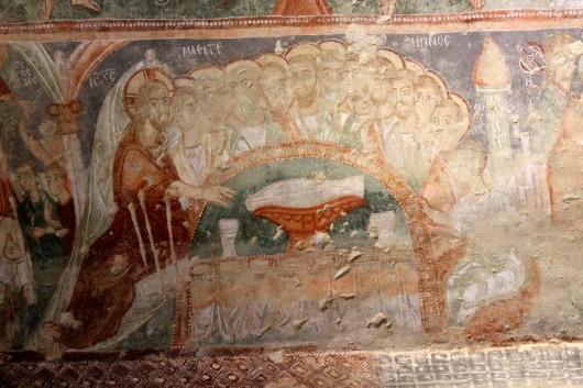 Тайная вечеря в церкви Токалы, Гереме, Каппадокия