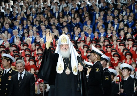 Патриарх Кирилл на праздничном концерте