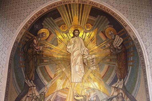 Преображение Господне. Мозаика Спасо-Преображенского собора в Киеве
