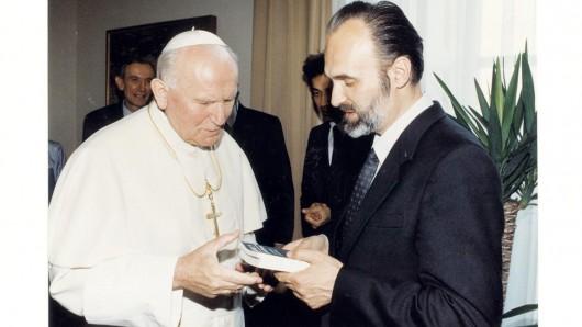 Владимир Зелинский с Папой Иоанном Павлом II