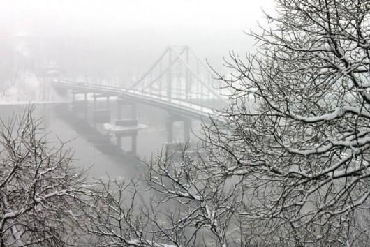 Пешеходный мост через Днепр, Киев. Фото Сергея Тимченко