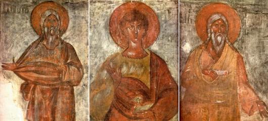 Праотцы Адам, Авель, Сиф. Фреска Феофана Грека