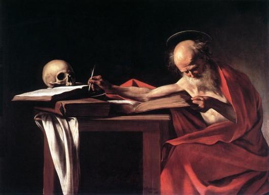 Пишущий святой Иероним. Микеланджело Караваджо