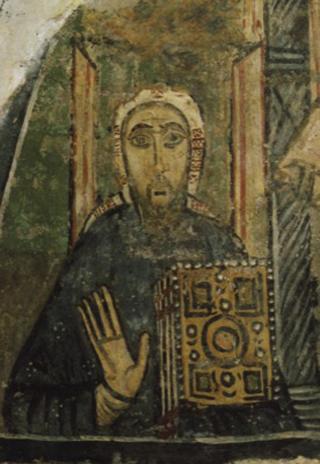 Св. Кирилл. Фреска, базилика св. Климента в Риме