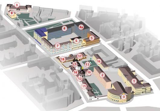 Схема університетського містечка Києво-Могилянської Академії
