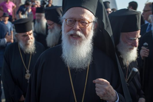 His Beatitude Archbishop Anastasios of Tirana, Durres, and All Albania arrived at Chania airport with three other Orthodox Patriarchs for the beginning of the Holy and Great Council.